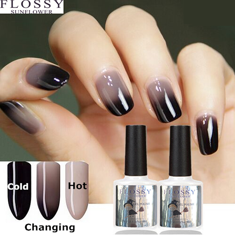 Flossy Sunflower New 24 Colors Gel Polish Nail Change Color Water Uv 10ml Gelpolishl For Soak Off In From Beauty Health On