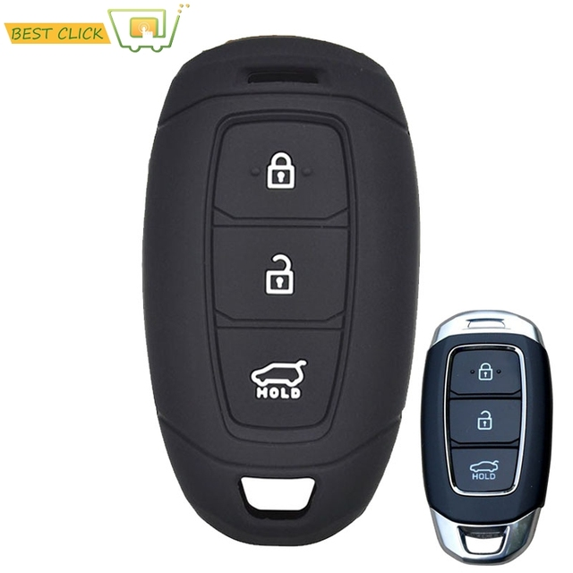 Silicone Car Key Case For Hyundai i30 Ix35 Solaris Azera Elantra Grandeur Ig Accent Santa Fe Verna 2017 2018 Cover Keyless Fob