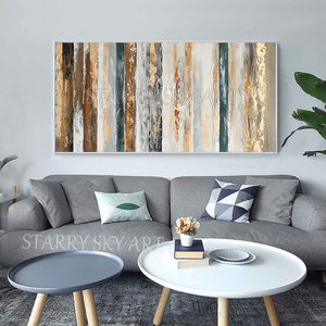 Image 4 - New Arrivals Hand painted Contemporary Wall Art Golden Abstract Oil Painting on Canvas Interior Design Art Golden Oil Painting
