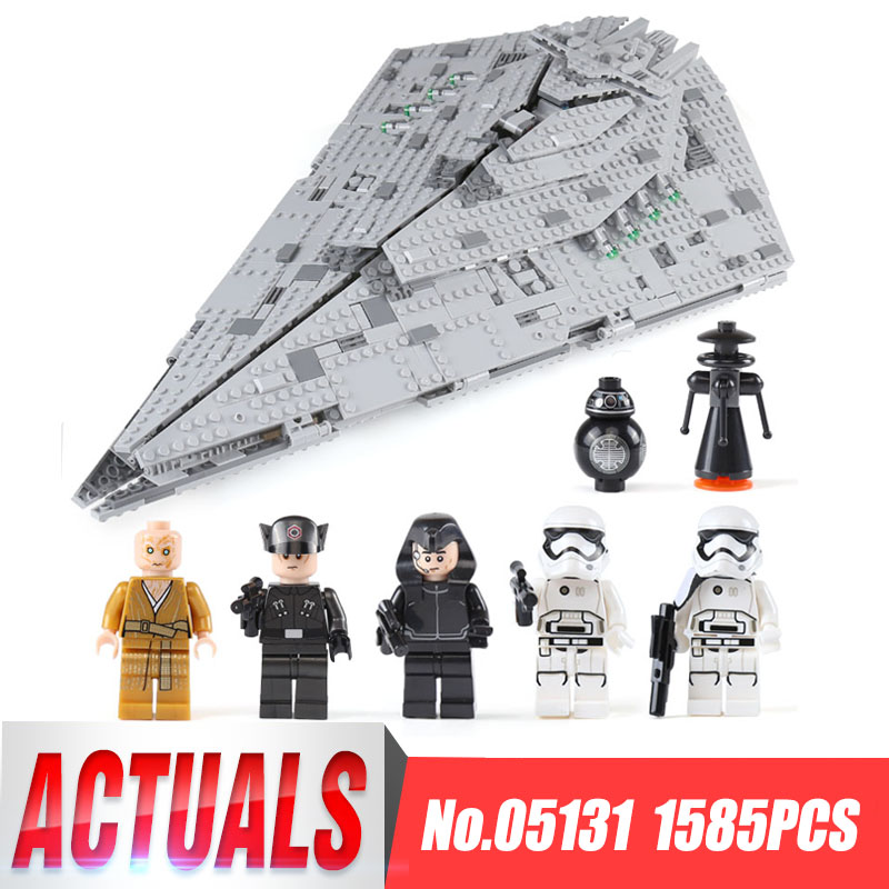 цена на Lepin 05131 1585Pcs Star The First order Model Destroyer Set LegoINGlys 75190 Building Blocks Brick Wars Toy birthday Gifts Toys