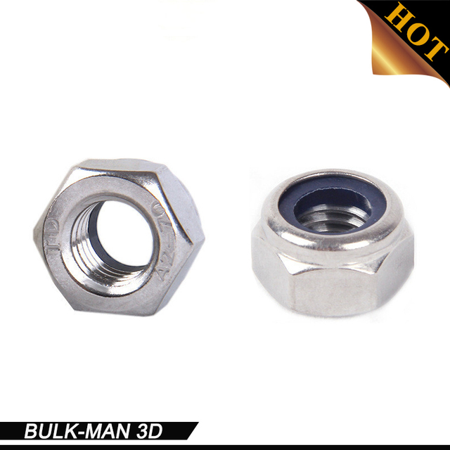 Self Locking Nut >> Us 0 5 50pcs Lot Openbuilds M5 Nylon Lock Nut Locking Nut Self Lock Nut Stainless Steel Self Locking Hex Nuts For Cnc 3d Printer In 3d Printer Parts