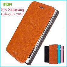 Mofi флип для Samsung Galaxy J7 2016 чехол люкс откидная Подставка Книга чехол для Samsung Galaxy J7 2016 искусственная кожа Крышка