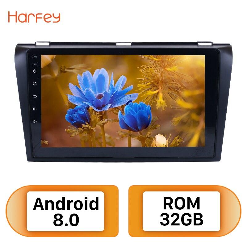 Harfey 9 pouces Android 8.0 Voiture Radio Pour 2004-2009 Mazda 3 GPS Navigation Multimédia Lecteur Soutien Wifi Bluetooth miroir Lien