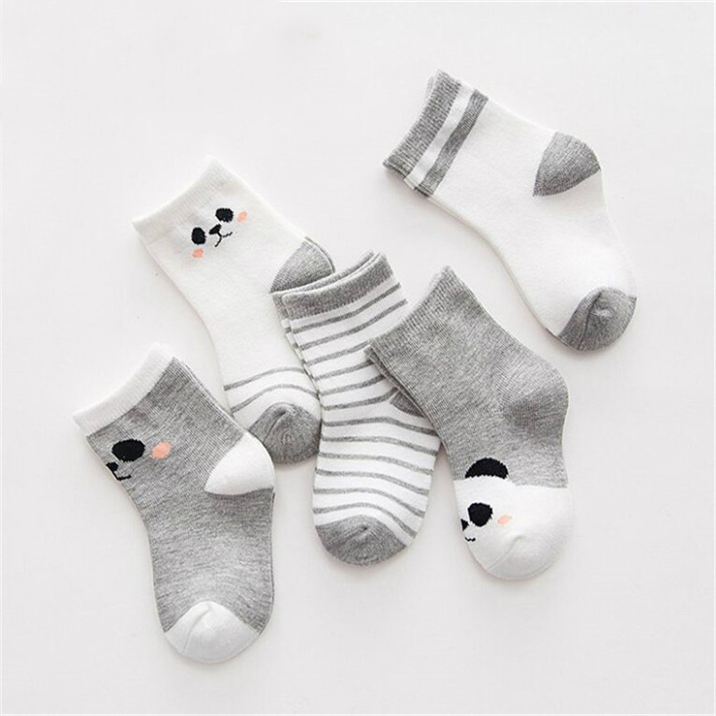 5Pairs/lot Cotton Striped 2-9Y Kids Socks Newborn Baby Boys Girls Sock Cute Toddler Kid