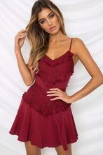 Womens Sexy Mini Dress Old Style Embroidery Strapless Holiday Dress Front Tassel Patchwork Cotton Dress