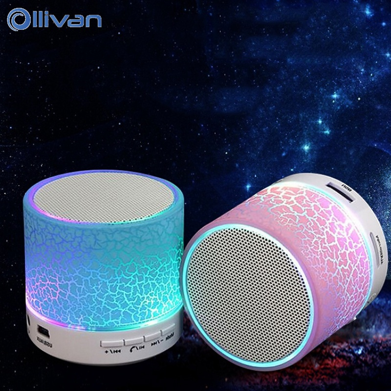 Ollivan A9 LED Bluetooth Speaker Mini Speakers Hands Free Portable Wireless Speaker With TF Card Mic USB Audio Music Player portable mini led bluetooth speakers wireless small music audio tf usb fm light stereo sound speaker for phone xiaomi with mic