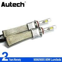 Autech Lumileds LED Headlight 9005 HB3 High Low Beam 9006 HB4 Fanless Design Quick Heat Radiation