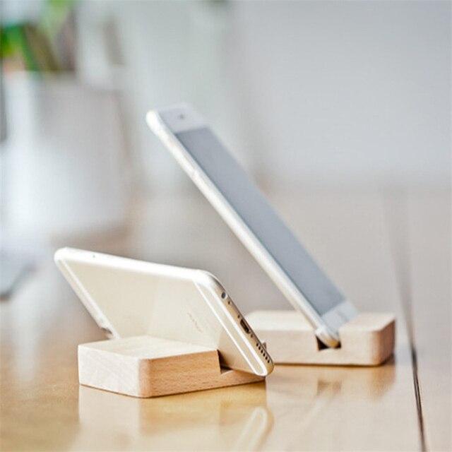 Porta Iphone Da Scrivania.Us 2 45 Aliexpress Com Acquista Mini Legno Stand Per Iphone 6 S Samsung S6 Sony Xiaomi Huawei Scrivania Porta Cellulare Supporto Del Telefono