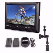 Feelworld FW-709 FW709 IPS HD 1024×600 On-Camera 1080P Screen Field Video Monitor + 7 inch magic arm + battery + battery charger