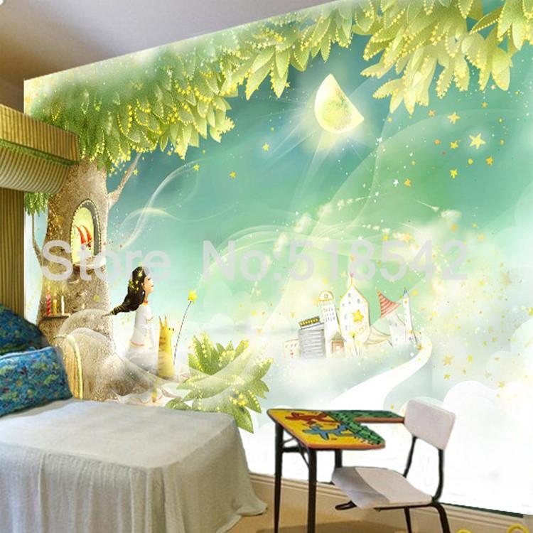 HTB1B2r8KpXXXXa9XXXXq6xXFXXXe Custom Photo Wallpaper 3D Dream Cartoon Children Room Living Room Bedroom Home Decoration Wall Art Mural Wallpaper For Walls 3 D