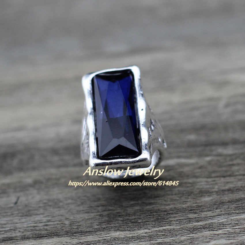 Anslow 2020, оригинальный дизайн, винтажное Ретро Большое Квадратное Кристальное свадебное кольцо для женщин, женские ювелирные аксессуары LOW0024AR