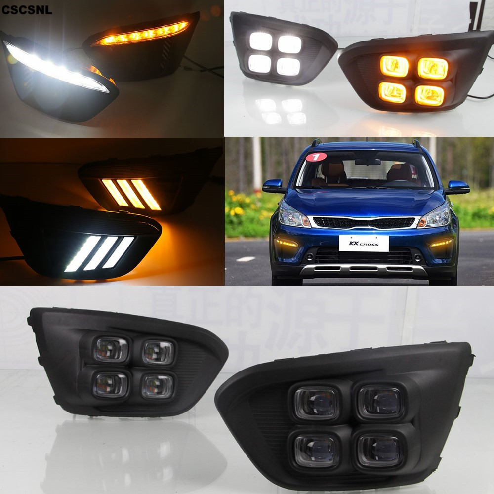 CSCSNL 1Pair Super Bright LED For Russia KIA RIO X Line 2018 Highlight Auto Driving Daytime