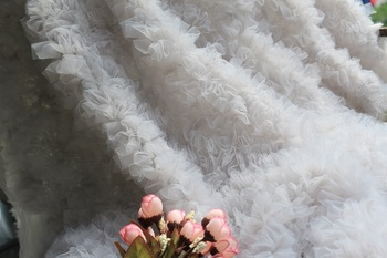 1 yard wedding decoration Most Exquisite  gray Chiffon Rosette Fabric Latest Version of the Photography Prop, Bridal Fabric