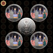 WR Wholesale Silver Plated Coin President Trump with His Daughter Silver Metal Souvenir Coin