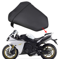 Black Motorcycle Seats Rear Pillion Passenger Seat Cushion Covers Motocross Cafe Racer Seats Bike For Yamaha YZF R1 2007 2008