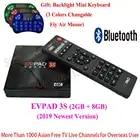 2019 IPTV EVPAD 3S 2G 8G 4K Smart Android TV Box espagne coréen japonais singapour HK malaisie Taiwan indonésie sport TV chaînes