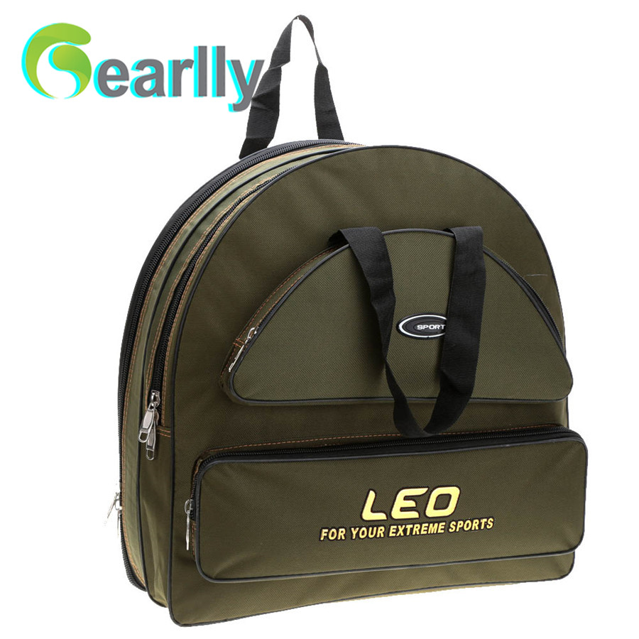 Outdoor Sport Fishing Bag 48 * 14 * 49cm Double Layer Backpack For Fishing Tackle Storage Hand Bag camouflage outdoor fishing chairs bag foldable 600d oxford peva waterproof layer cool fishing bag multifunctional sport backpack
