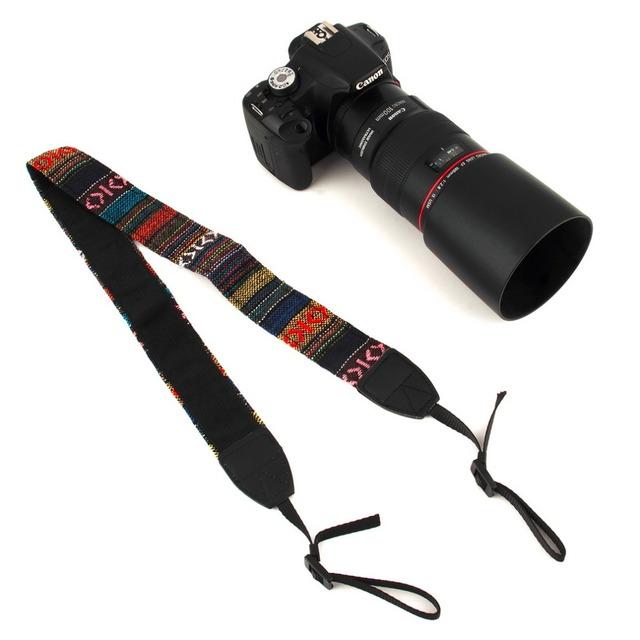 3 in 1 Camera Straps Vintage Hippie Style Canvas Shoulder Neck Durable Cotton for Nikon/Pentax/Sony/Canon DSLR Camera