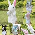 Забавные игрушки куклы праздничная распродажа прекрасный говоря кролик животных кукол дети любят стороны марионеточных