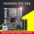 Rabatt kaufen motherboard bündel marke HUANAN ZHI X58 motherboard mit CPU Intel Xeon X5675 3,06 GHz RAM 16G (2*8G) DDR3 REG ECC