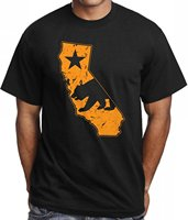 T Shirt Men Print California Map Golden State T Shirt For Men Stylish Graphic Design Tee
