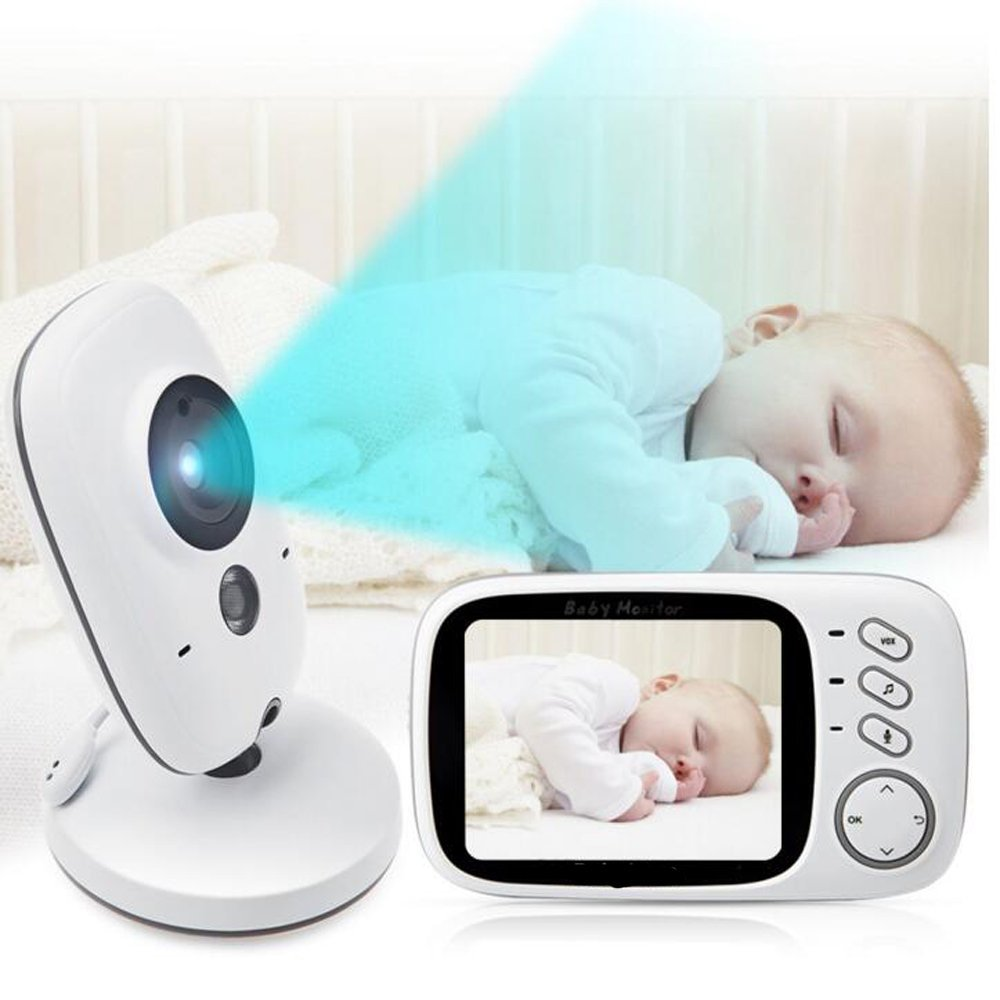 babykam baby monitor vb603 video nanny 3.2 inch IR Night Vision 2 way Talk Temperature Monitor Lullabies baby camera radio nanny