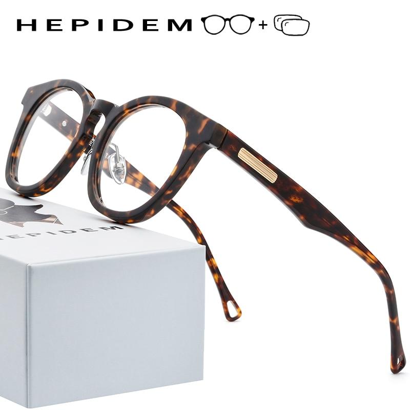 Prescription Optical Glasses Frame Men Women Glasses Computer Transparent Eyeglasses Brand Design Acetate Vintage Round Eyewear