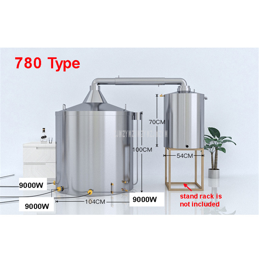 650L Large Commercial Professional Wine Brewing Equipment Automatic Liquor Distillation Boiler Wine Making Machine 380V 1