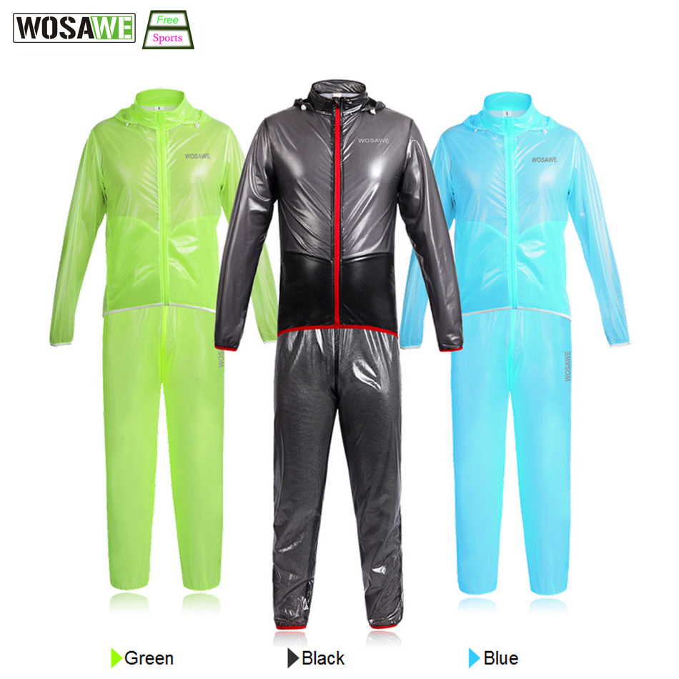WOSAWE Waterproof Cycling Jersey Cycling Rain Jacket Wind Coat Bicycle Clothing Ciclismo MTB Bike Cycle Raincoat