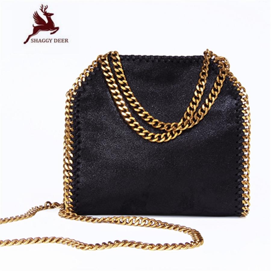 Exclusive Top Quality Luxury Mini 18cm Lady Star PVC Fold-Over Crossbody Stella Chain Shoulder Bag Shaggy Deer Chain Flap Bag metal deer detail crossbody bag