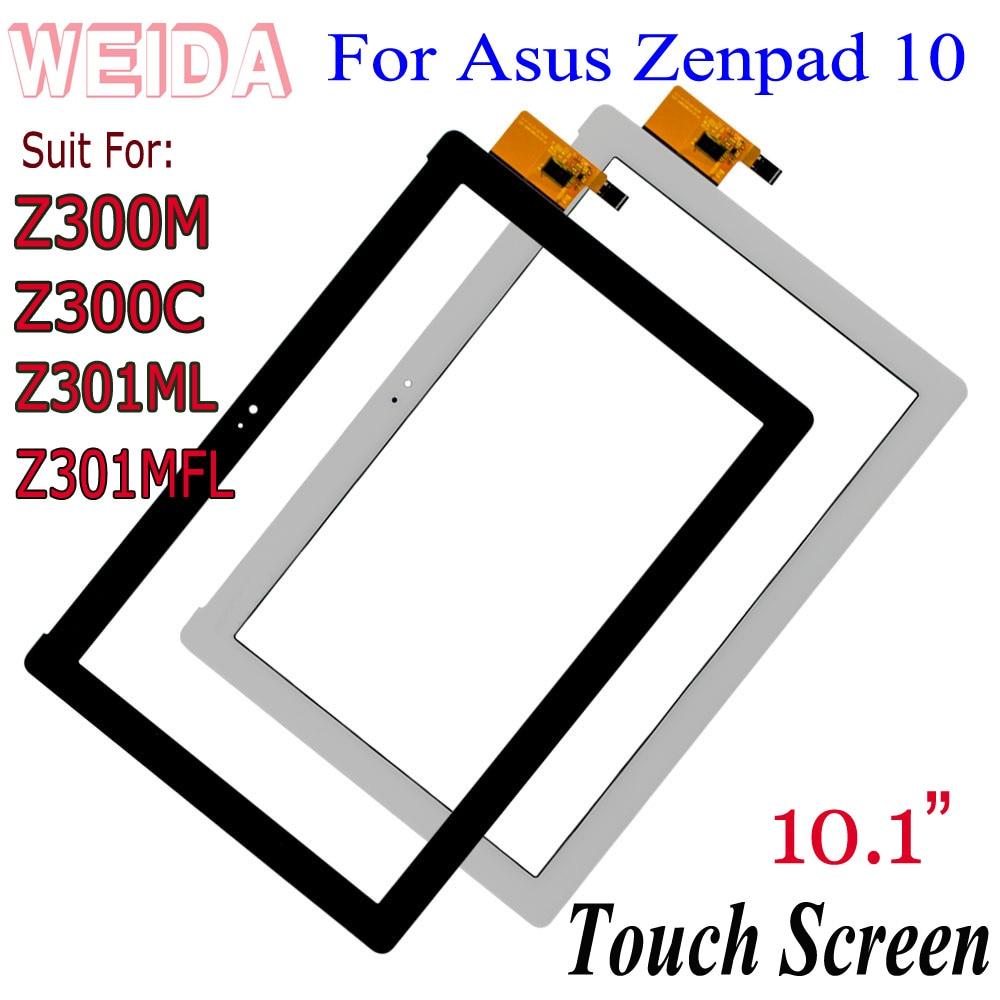 Weida 아수스 zenpad 10 z300c z300m z301ml z301mfl z300 범용 터치 스크린 디지타이저 패널 유리 p023 p028 lcd없이