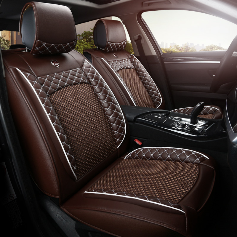 Artificial Leather Auto Universal Car Seat Covers For Mitsubishi Lancer Outlander Pajero Eclipse