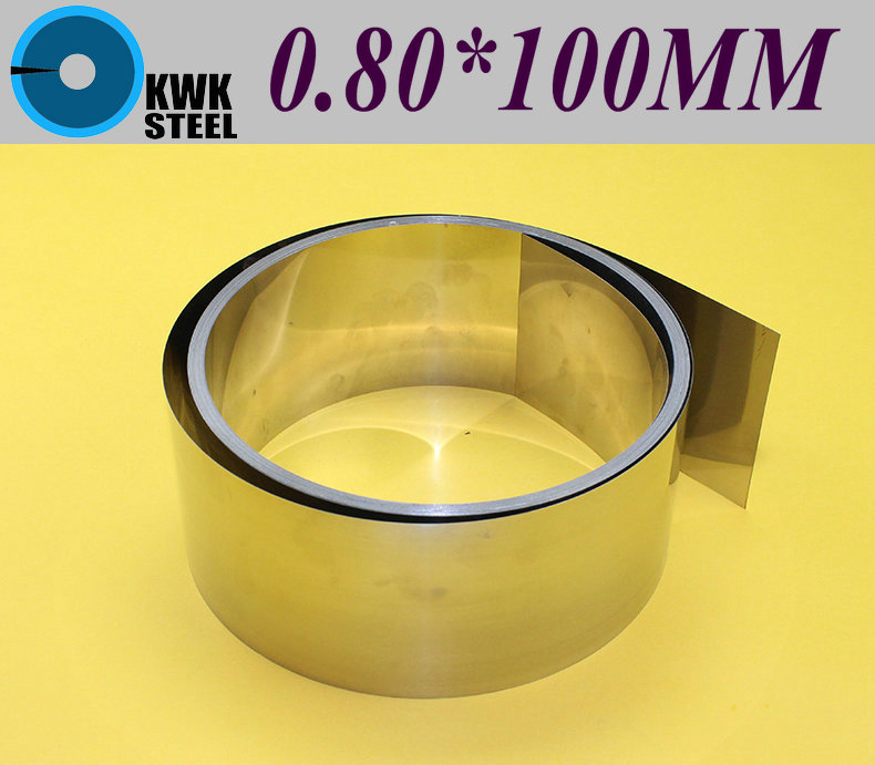 ФОТО Stainless SUS304 Steel Strips 0.80*100*1000mm in Coil for Molds Distance Washer High Precision Parts Coiled Silicon Steel Sheet
