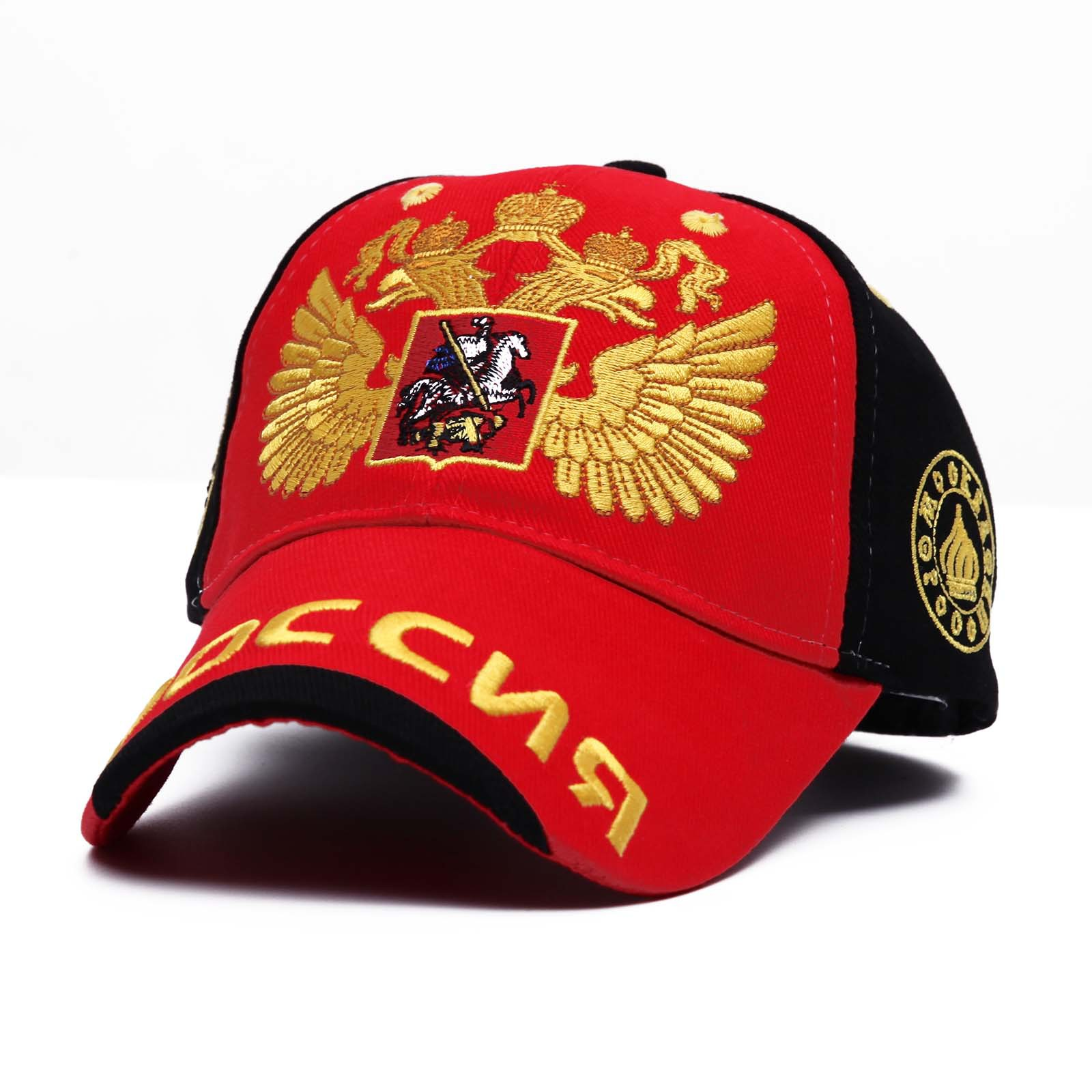 2019 Women Men Fashion Embroidery Baseball Cap Russia National Emblem Cotton Outdoor Leisure Sports Sun Hat Snapback Dad Hats in Men 39 s Baseball Caps from Apparel Accessories