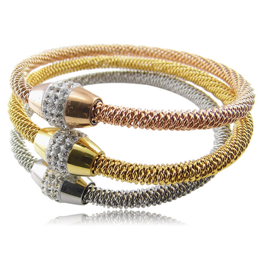 Нежный полые римские цифры браслеты и браслеты Titanium стали браслет ювелирных украшений для женщин вакуум покрытие браслет болото браслеты
