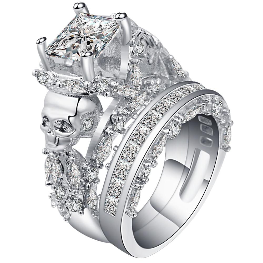popular skull engagement ring settings-buy cheap skull engagement