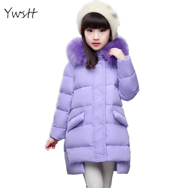 Ywstt girls winter coats children's down coat girls outerwear & coats cuhk 2017 Fashion child down jacket girl warm parkas
