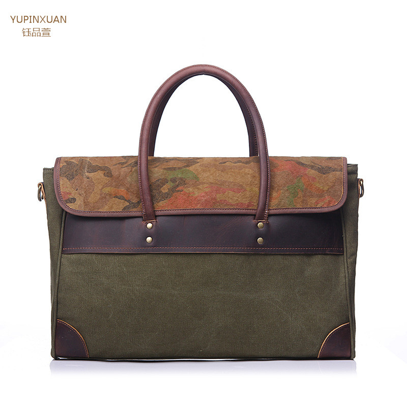 YUPINXUAN Business Briefcase Leather Laptop Bag Man Brief Case Vintage Male office Bag Retro Lawyer Bags Crazy Horse Leather цена и фото