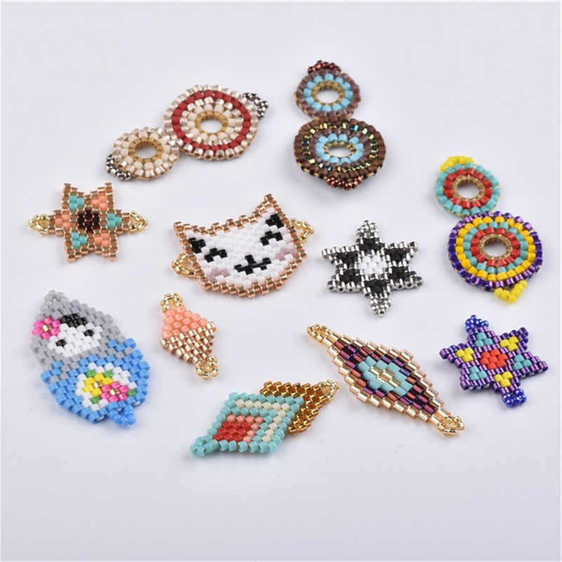 Jewelry accessories Bracelets Handmade Miyuki  Weave Seed Beads  Earrings Ncklace materials