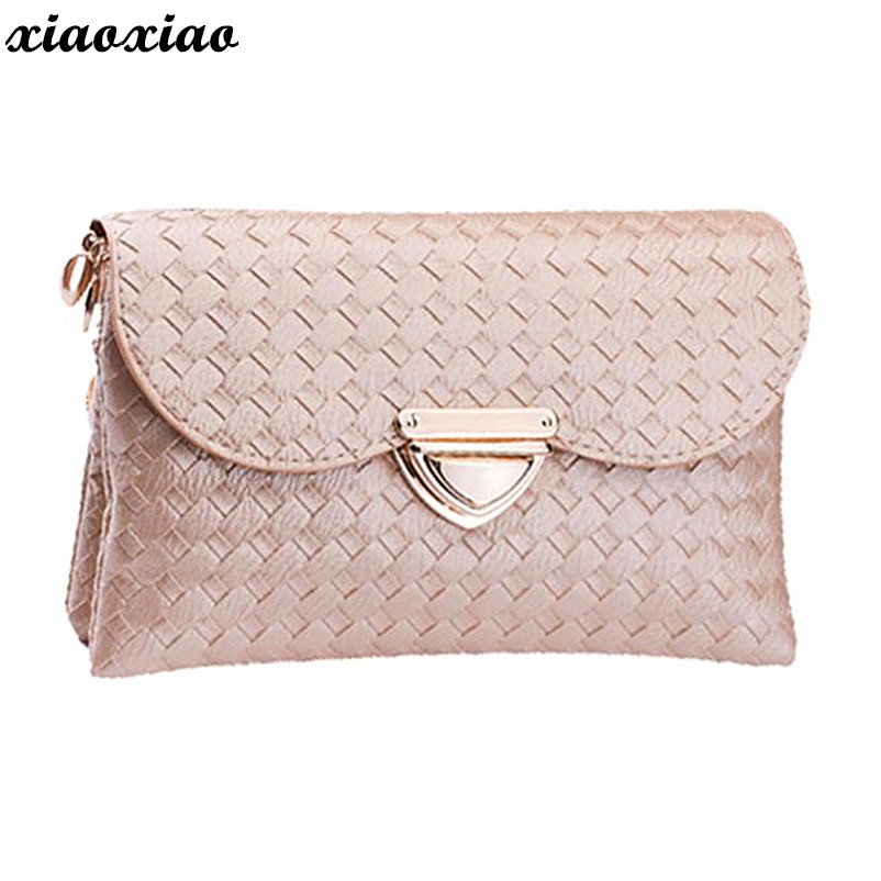 Luxury Clutch Bag Party Dual-use Women Weave Pattern Wallet Shoulder Messenger Bag Handbag Bolsa Feminina