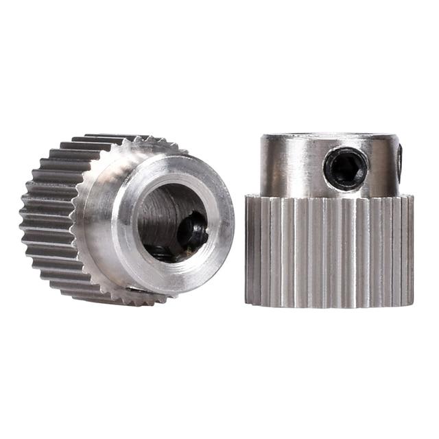 Accesorios para impresora 3D 36 dientes MK7/MK 8 rueda de engranaje planetario de acero inoxidable extrusora de alimentación rueda de extrusión