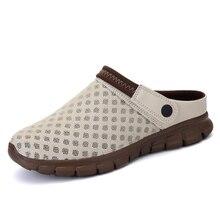 Мужчины Тапочки Сандалии 2017 Новый Летний Мужская Мода Стиль Свет Пустой Вскользь Любителей Пляжная Обувь Большого размера