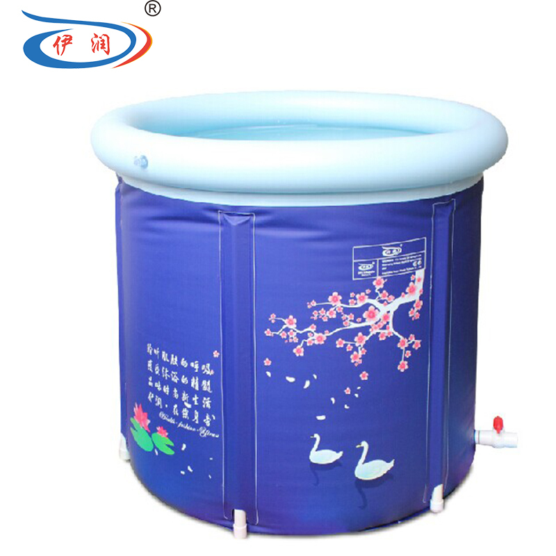 Hot Sale Folding Thickening Bath Tub Pvc Inflation Bathtub Bath Barrel Adult Bathtub Cold-proof Round Bathtub inflatable spa ...