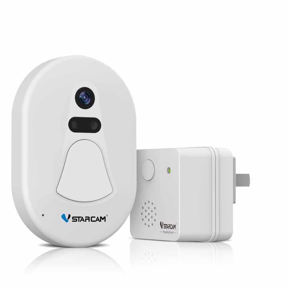 كاميرا VStarcam D1 باب ، كاميرا باب الجرس كاميرا WIFi + RF2.4G ، جرس الباب الصورة ، ودعم IOS والهاتف أندرويد