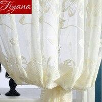 Cortinas de Voile bordado Pura pura Painel de Fios Tela da Janela para o Quarto Sala de estar Moderna Varanda Cortinas de Tule T & 003 #15