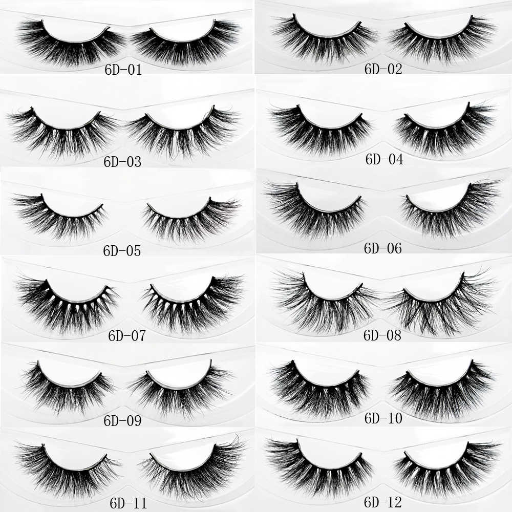 CROWN LASHES 5 pairs 3D faux mink eyelashes silk lashes