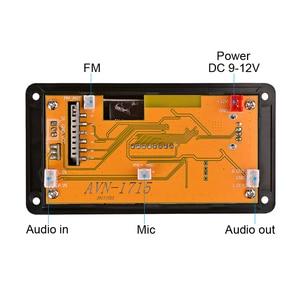 Image 2 - Leitor de mp3 módulo de áudio suporte fm rádio aux usb com letras display 12v lcd bluetooth mp3 decodificador placa wav wma decodificação