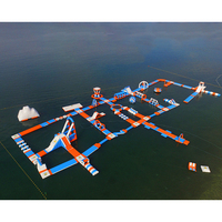 Inflatable sea water park equipment aqua theme park floating mobile water parK