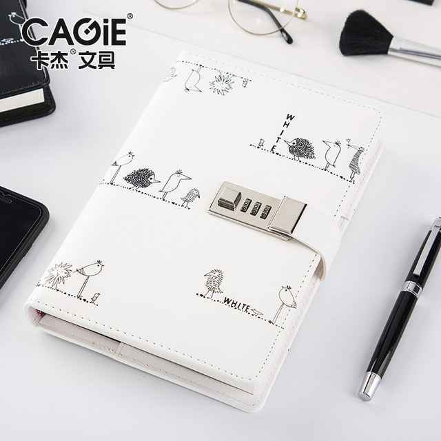 cagie personal diary with lock cute notebooks and journals a5 vintage leather agenda planner organizer daily planner notebook