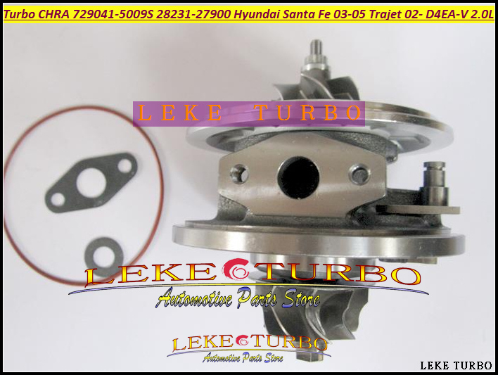 Turbo Cartridge CHRA GT1749V 729041-5009S 729041 28231-27900 Turbocharger For HYUNDAI Santa Fe 03-05 Trajet 02- D4EA-V 16v 2.0L